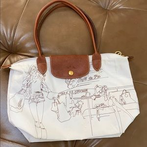 Longchamp Embroidered Cafe de Paris Bag